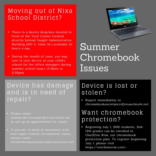 Summer Chromebook Issues
