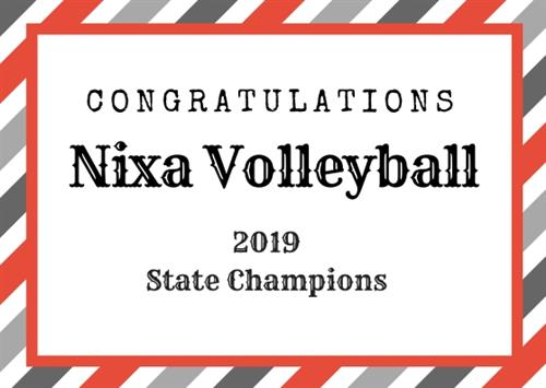 Congratulations Nixa Volleyball 2019 State Champions