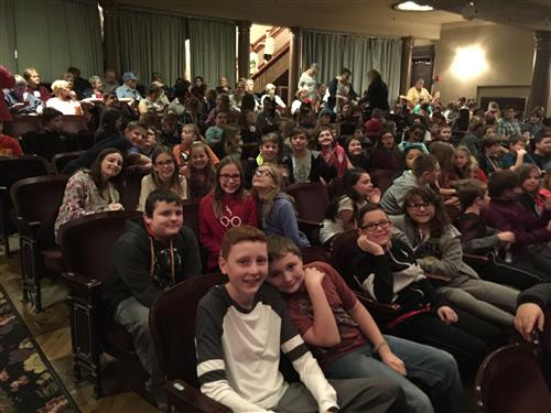 5th graders at Beauty and the Beast